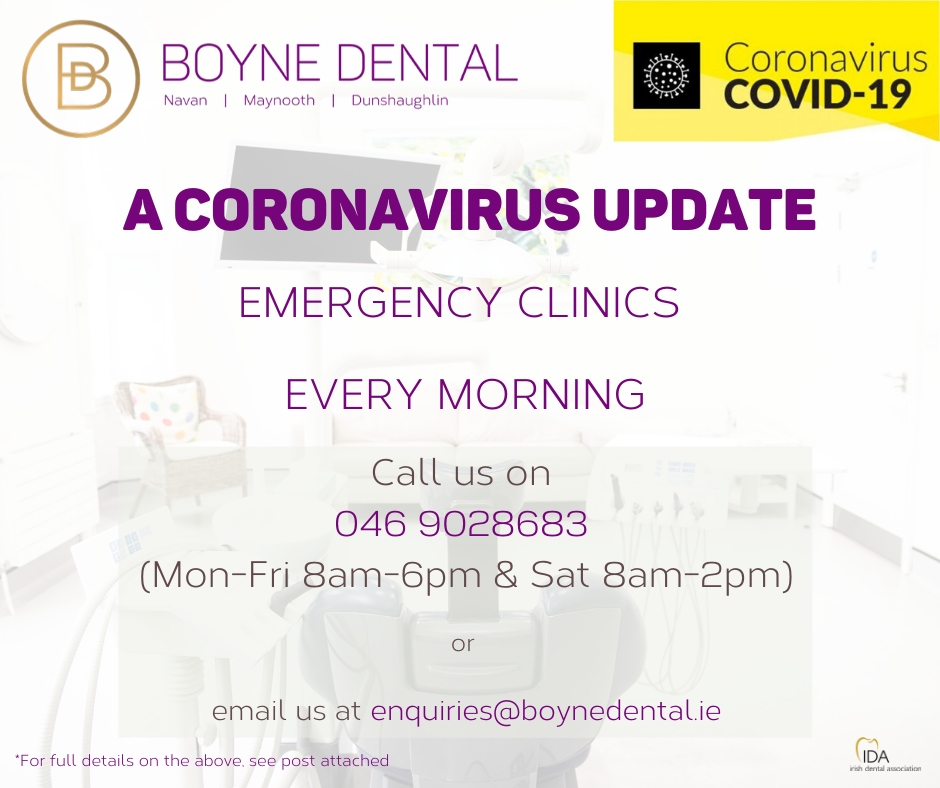 Coronavirus Boyne Dental Update