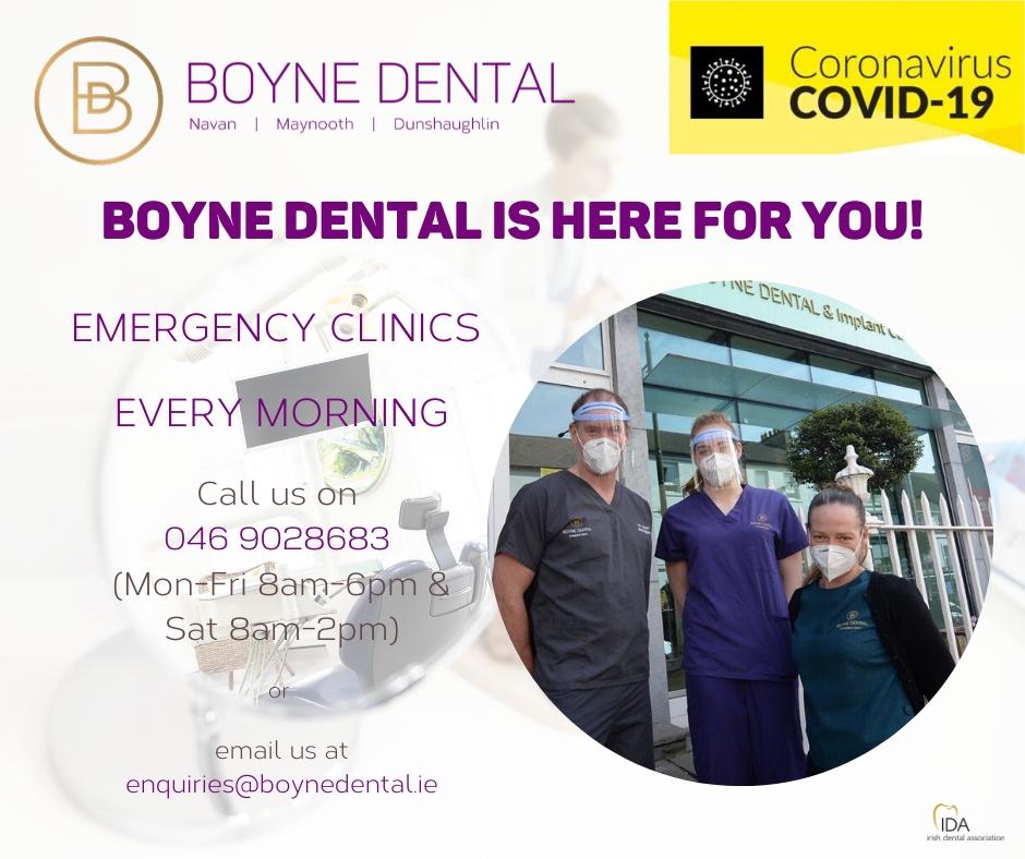 Update Covid-19 Boyne Dental